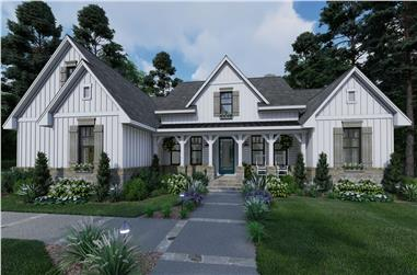 4-Bedroom, 2459 Sq Ft Craftsman House Plan - 117-1135 - Front Exterior