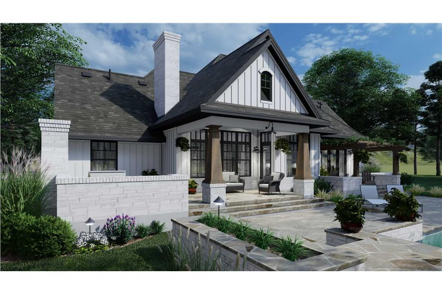 Rear View of this 4-Bedroom,2353 Sq Ft Plan -2353