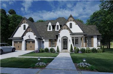 4-Bedroom, 2353 Sq Ft European Home Plan - 117-1136 - Main Exterior