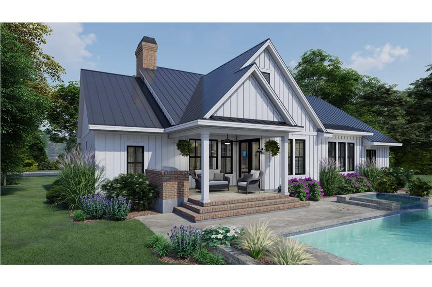 Rear View of this 3-Bedroom,2192 Sq Ft Plan -2192