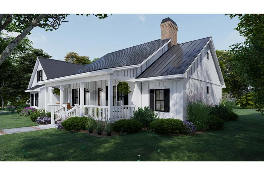 Side View of this 3-Bedroom,2192 Sq Ft Plan -2192