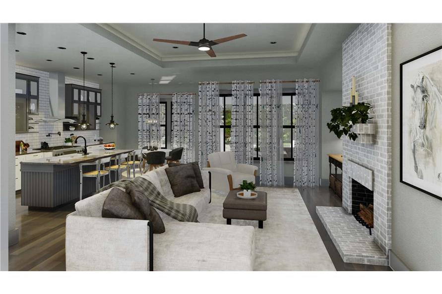 Family Room of this 3-Bedroom,2192 Sq Ft Plan -2192
