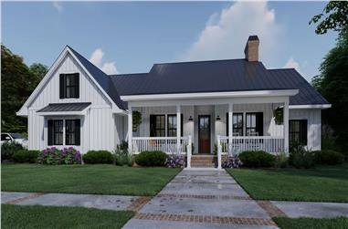 3-Bedroom, 2192 Sq Ft Farmhouse Home Plan - 117-1137 - Main Exterior