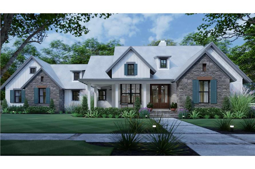 Front View of this 3-Bedroom,1988 Sq Ft Plan -117-1139