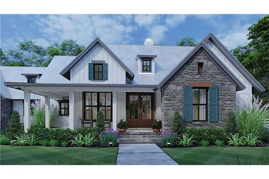 3-Bedroom, 1988 Sq Ft Farmhouse Home - Plan #117-1139 - Main Exterior