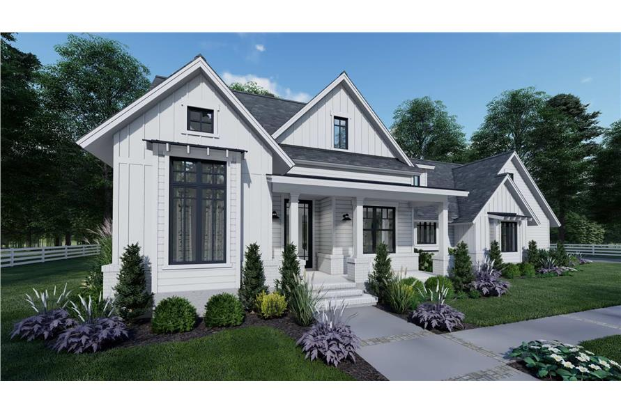Front View of this 3-Bedroom,1486 Sq Ft Plan -117-1140