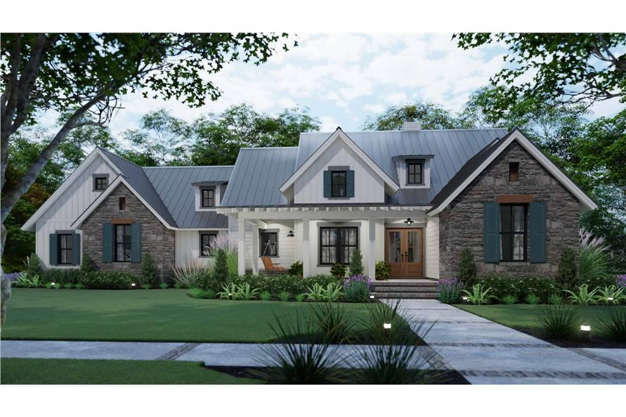 Front View of this 3-Bedroom,1742 Sq Ft Plan -117-1141
