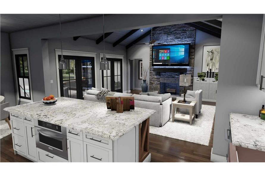 Kitchen of this 3-Bedroom,1742 Sq Ft Plan -117-1141