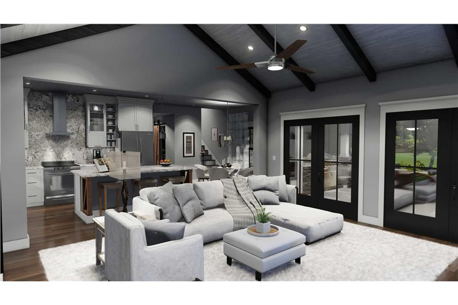 Family Room of this 3-Bedroom,1742 Sq Ft Plan -117-1141