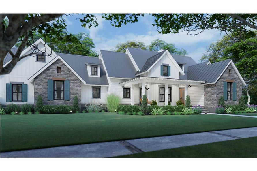 Left View of this 3-Bedroom,1742 Sq Ft Plan -117-1141