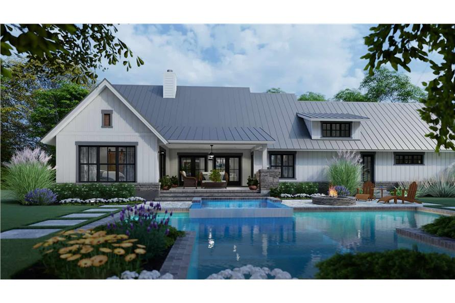 Rear View of this 3-Bedroom,1742 Sq Ft Plan -117-1141