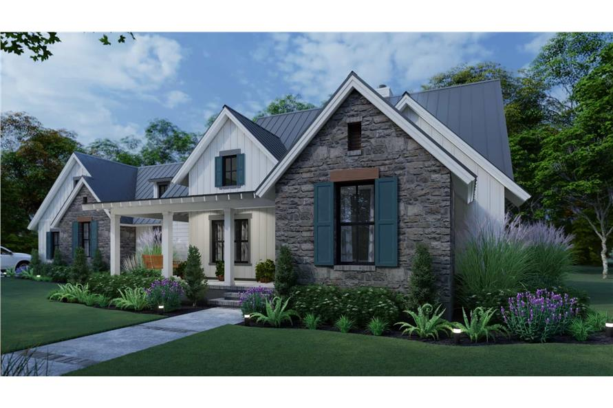 Right View of this 3-Bedroom,1742 Sq Ft Plan -117-1141