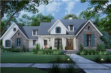 3-Bedroom, 1742 Sq Ft Ranch Home - Plan #117-1141 - Main Exterior