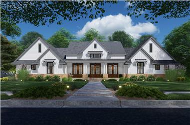 4-Bedroom, 3077 Sq Ft Ranch House - Plan #117-1142 - Front Exterior