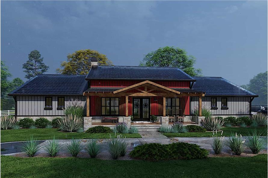Home at Night of this 3-Bedroom,2486 Sq Ft Plan -117-1143