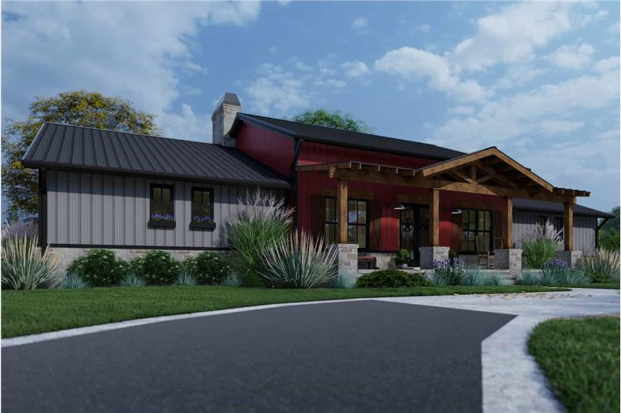 Left View of this 3-Bedroom,2486 Sq Ft Plan -117-1143