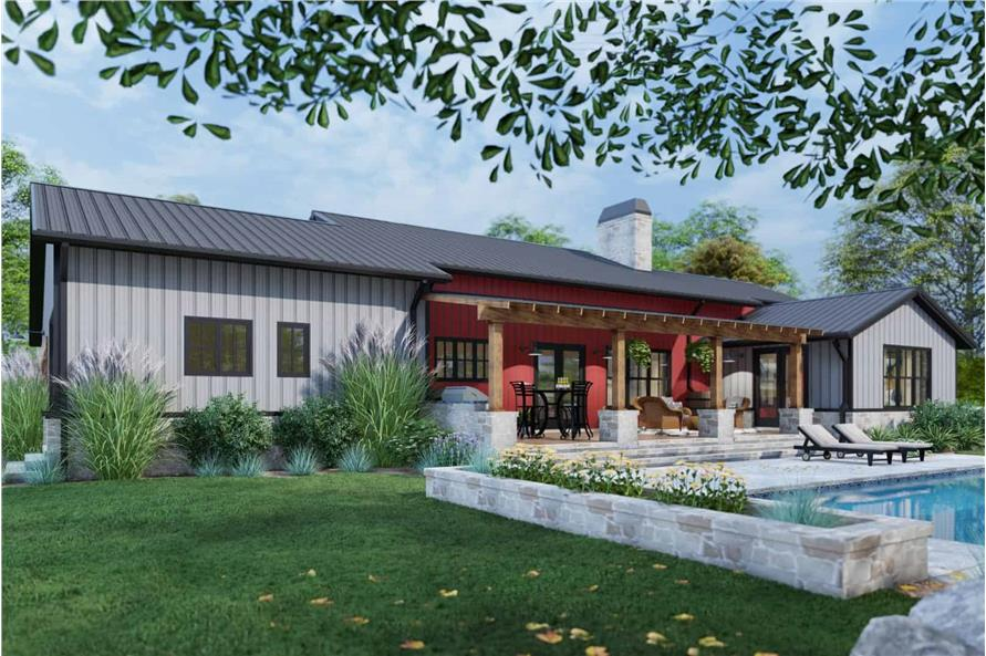 Rear View of this 3-Bedroom,2486 Sq Ft Plan -117-1143