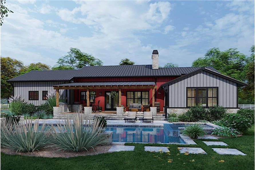 Pool of this 3-Bedroom,2486 Sq Ft Plan -117-1143