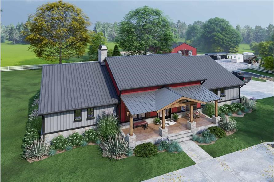 Front View of this 3-Bedroom,2486 Sq Ft Plan -117-1143