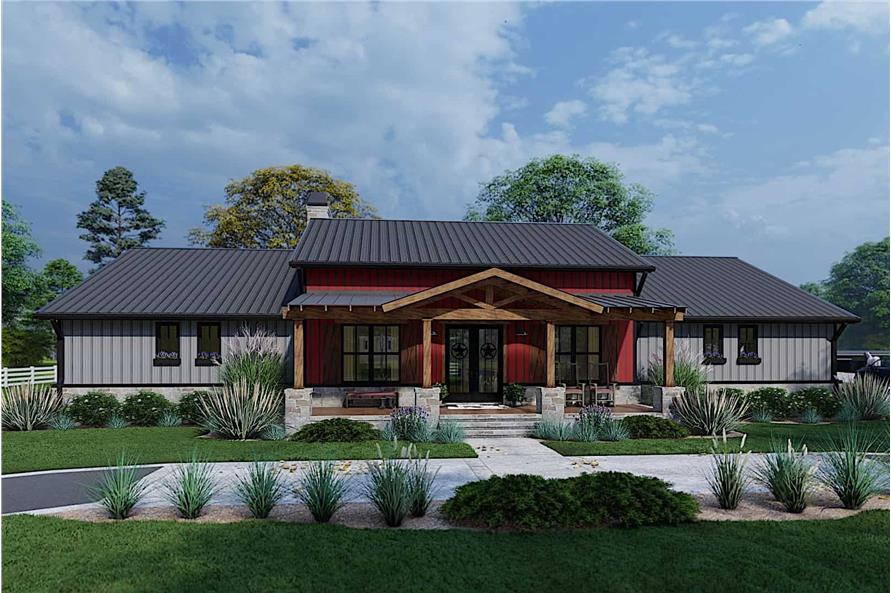 3-Bedroom, 2486 Sq Ft Ranch Home - Plan #117-1143 - Main Exterior
