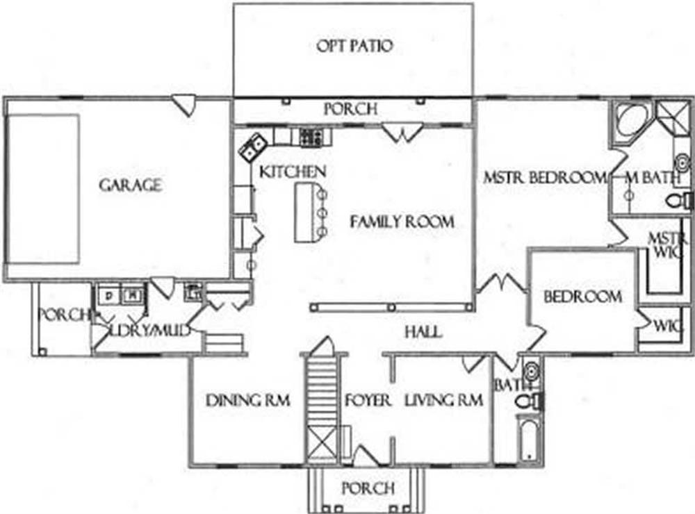 House Plan CR-523-A Main Floor Plan