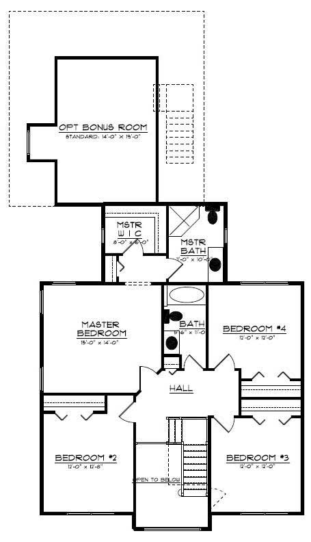 Floor Plan Second Story for country house plans # CR-534-B