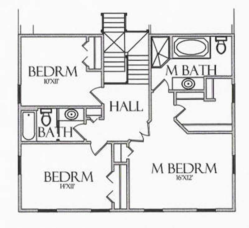 House Plan CR-503 Second Floor Plan