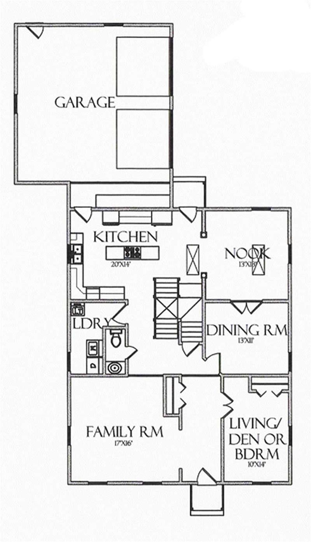 House Plan CR-503 Main Floor Plan