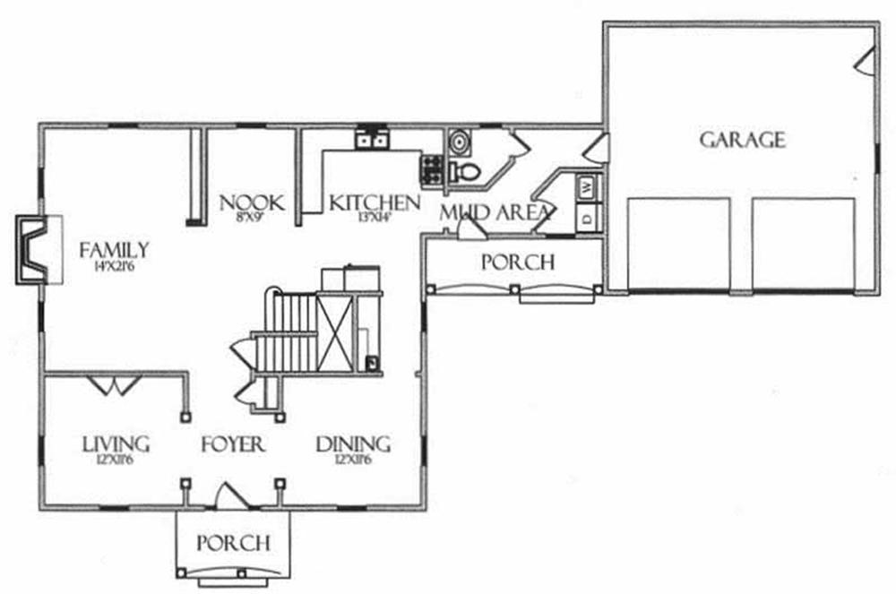 House Plan CR-501 Main Floor Plan
