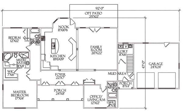 House Plan CR-520-B Main Floor Plan