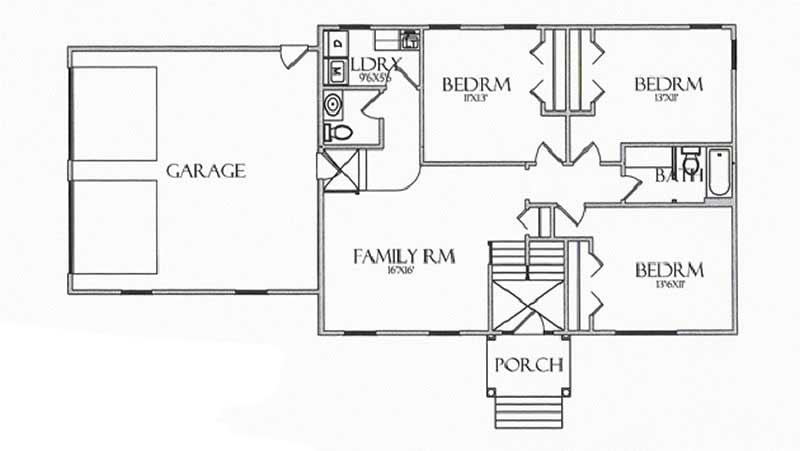 House Plan CR-502 Lower Level