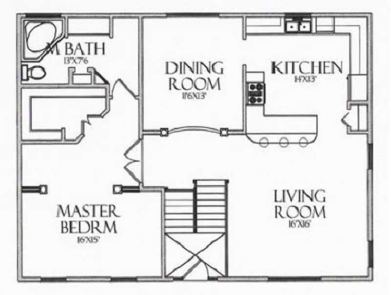 House Plan CR-502 Upper Level
