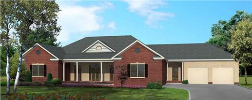 Main image for ranch house plan # 18092