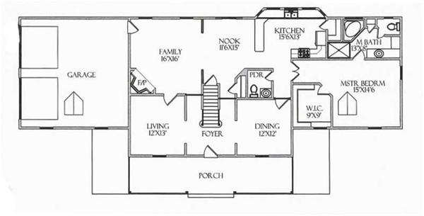 House Plan CR-505 Main Floor Plan