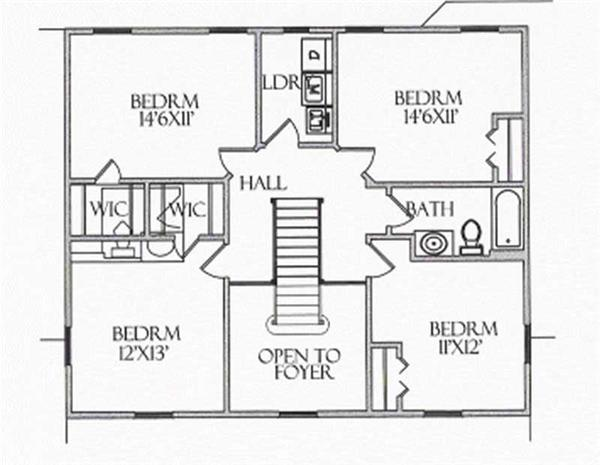 House Plan CR-505 Second Floor Plan