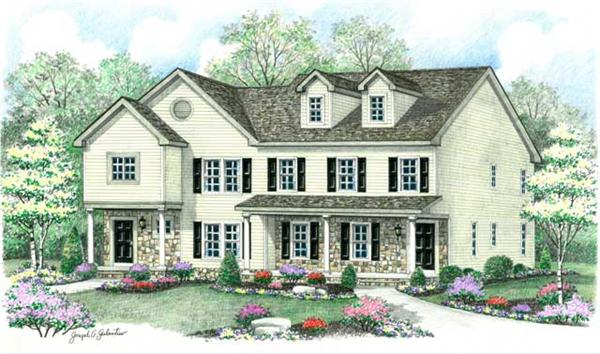 Main image for multi-unit house plans # CR-606
