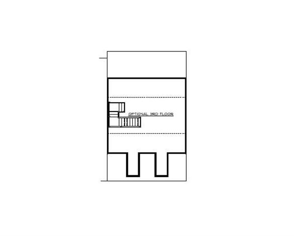 Floor Plan Third Story for multi-unit homeplans # CR-606
