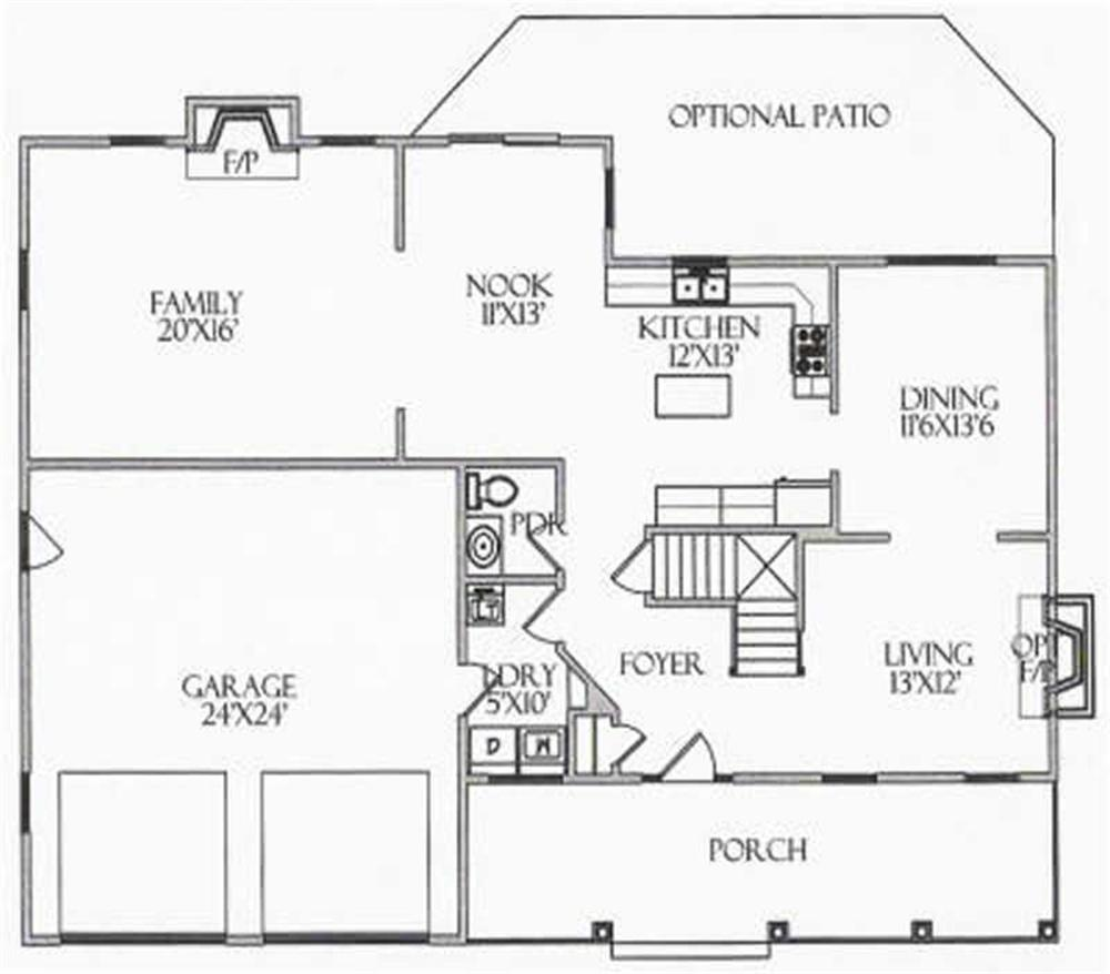 House Plan CR-515 Main Floor Plan