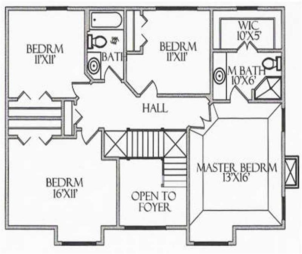 House Plan CR-515 Second Floor Plan