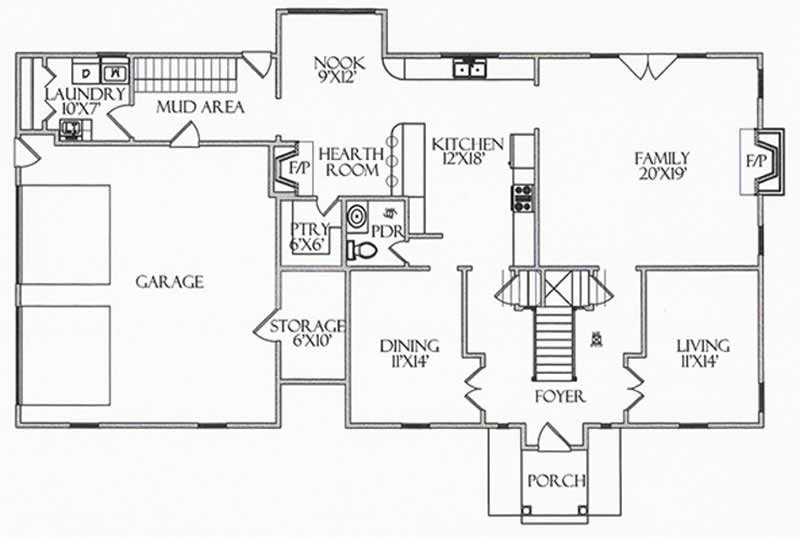 House Plan CR-510 Main Floor Plan