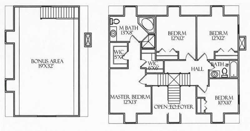 House Plan CR-510 Second Floor Plan