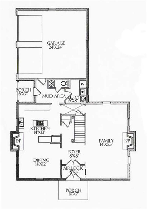 House Plan CR-508 Main Floor Plan