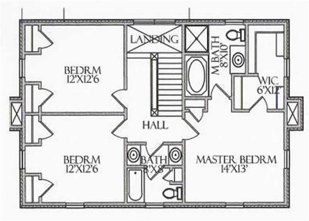 House Plan CR-508 Second Floor Plan