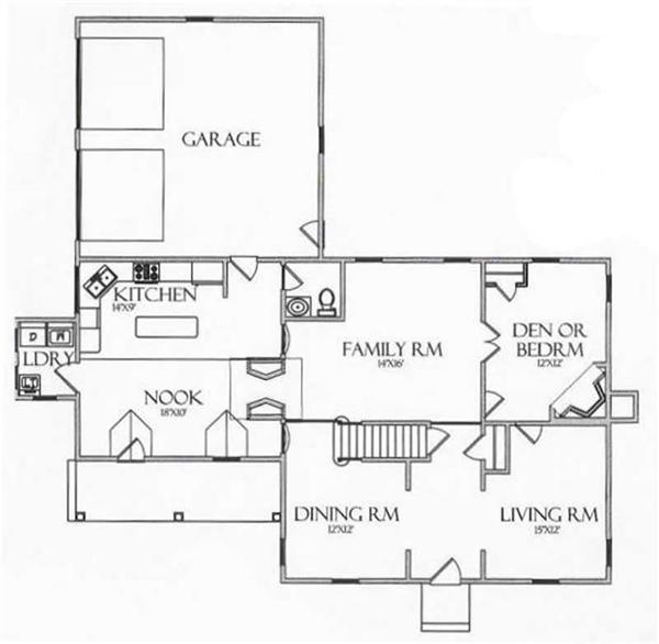 House Plan CR-504 Main Floor Plan