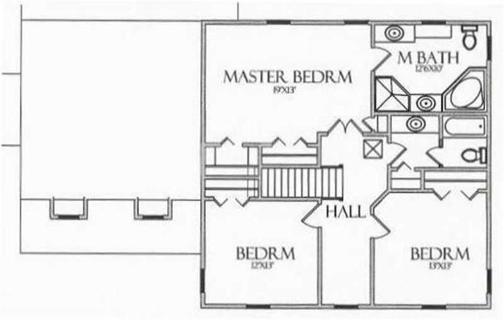 House Plan CR-504 Second Floor Plan