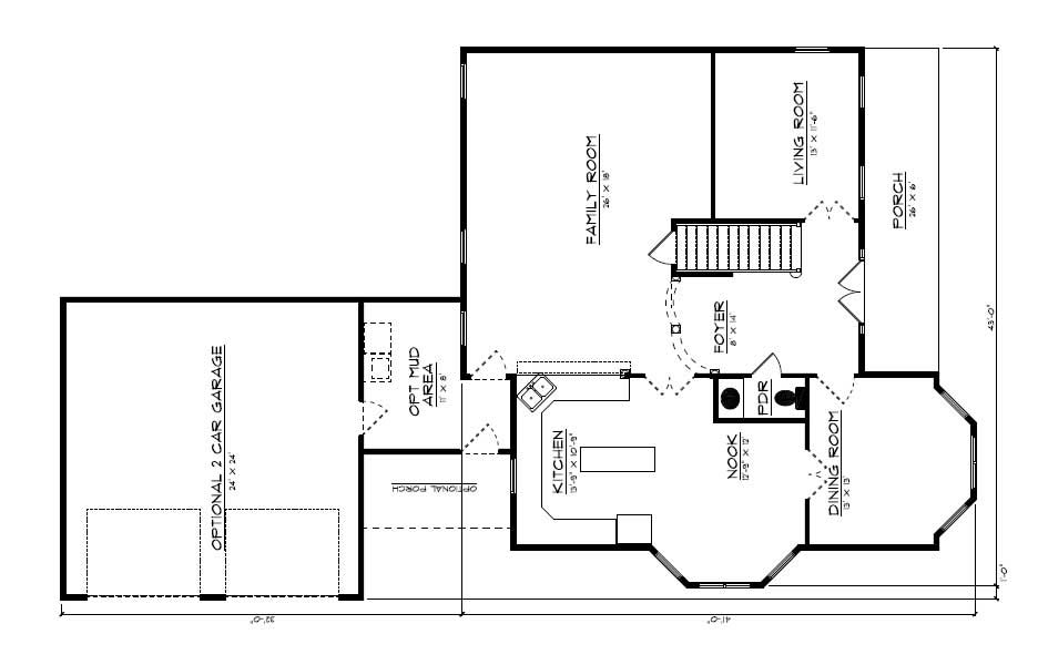 Floor Plan First Story for country house plans # CR-609