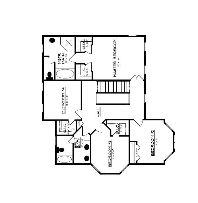 Floor Plan Second Story for country house plans # CR-609