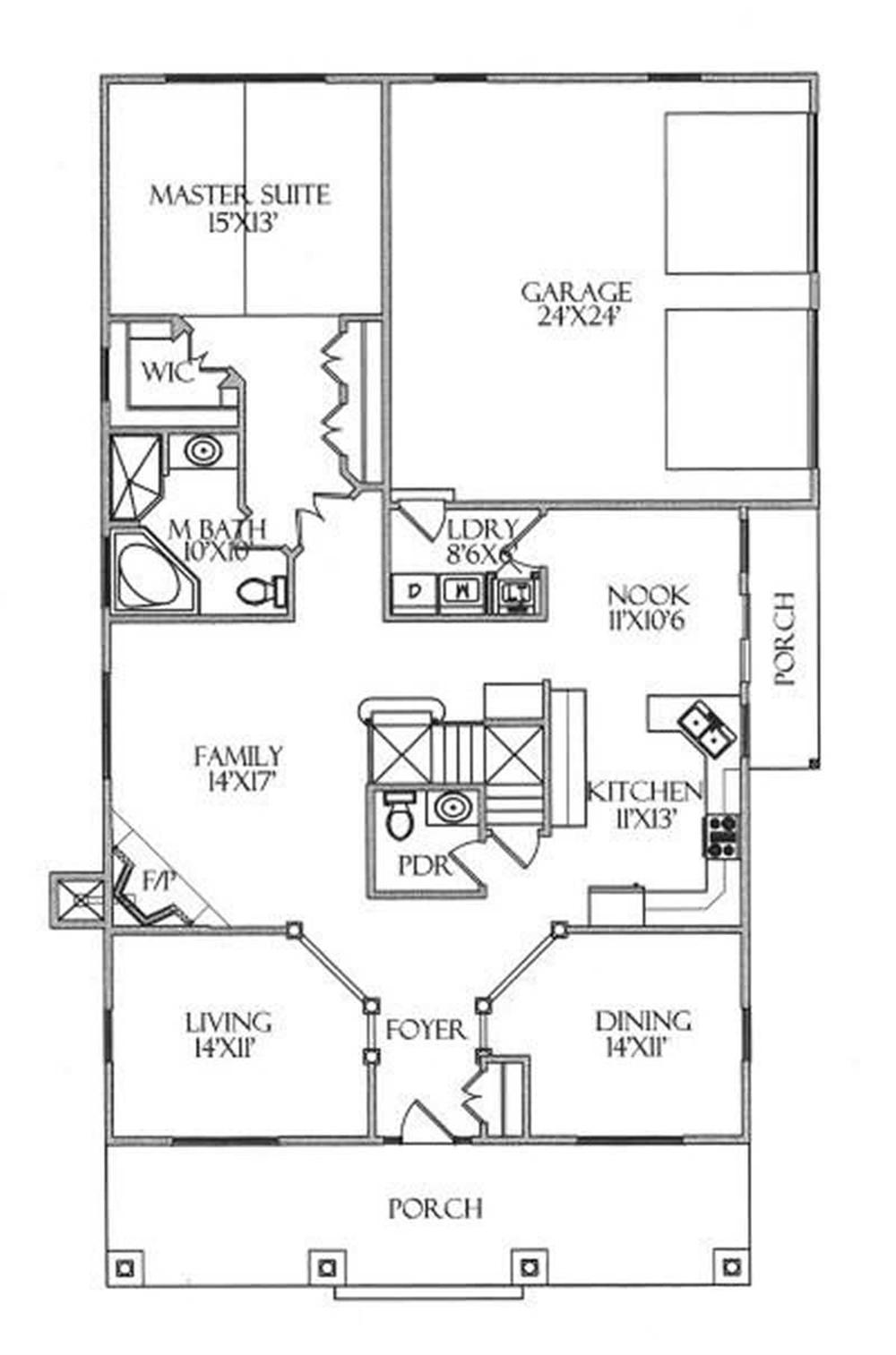 House Plan CR-506-A Main Floor Plan