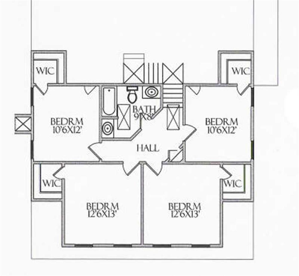 House Plan CR-506-A Second Floor Plan