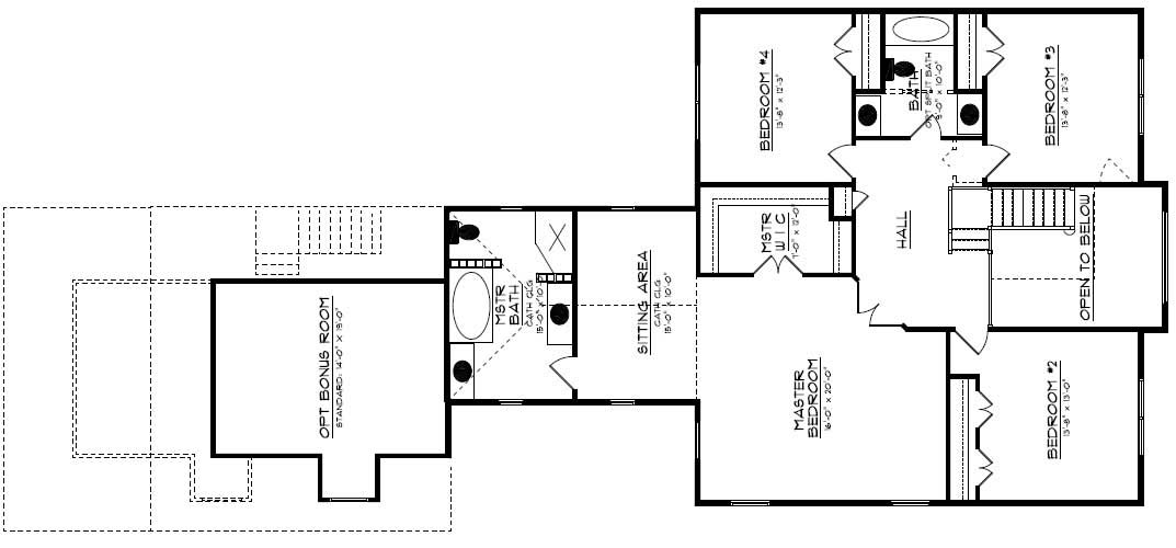 Floor Plan Second Story for country home plans # CR-534-A